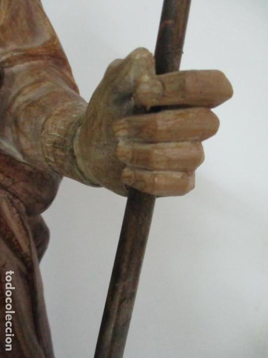 Arte: Impresionante Imagen de San Isidro Labrador - Patrón de la Ciudad de Madrid - Pieza Única - S. XIX - Foto 74 - 139552894