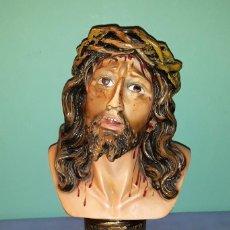 Arte: ANTIGUO BUSTO SANTO CRISTO DE LIMPIAS VER FOTOS Y DESCRIPCION. Lote 139555918