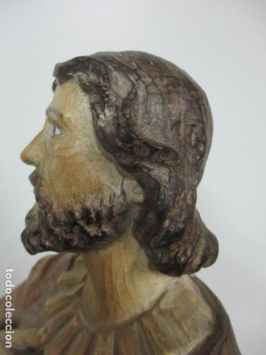 Arte: Impresionante Imagen de San Isidro Labrador - Patrón de la Ciudad de Madrid - Pieza Única - S. XIX - Foto 84 - 139552894