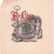 Arte: 1 EX-LIBRIS ET UNE GRAVURE DE CHARLES CARRIER. Lote 139600566