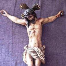 Arte: BELLA IMAGEN DE ESTUCO DE OLOT. CRISTO DEL AMOR DE SEVILLA. Lote 139625274