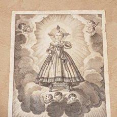 Arte: ANTIGUO GRABADO AÑO 1808 NIÑO DE LA PROVIDENCIA A DEVOCION DE MARIA VICENTA FERNANDEZ DE CORDOVA. Lote 139663850