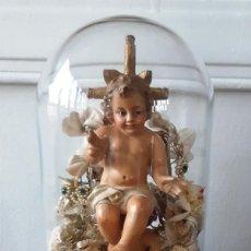 Arte: NIÑO JESÚS DE BARRO EN FANAL DEL SIGLO XIX. Lote 139861902