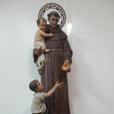 Arte: PRECIOSO SAN ANTONIO DE PADUA ANTIGUO - ESTUCO POLICROMADO -162 CM ALTURA -SELLO ARTE OLOTENSE, OLOT. Lote 139877210