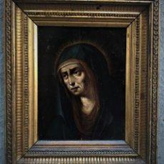 Arte: EXCEPCIONAL COBRE DE LA VIRGEN MARIA, DOLOROSA, ESCUELA FLAMENCA S. XVI. Lote 139884914