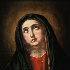 Arte: MAGNIFICA VIRGEN DOLOROSA S. XVIII, ESCUELA ESPAÑOLA. Lote 139888382