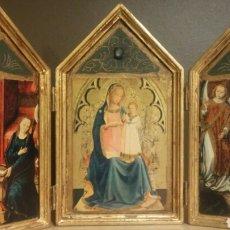 Art: BONITO TRIPTICO CON IMAGENES RELIGIOSAS. Lote 139912629