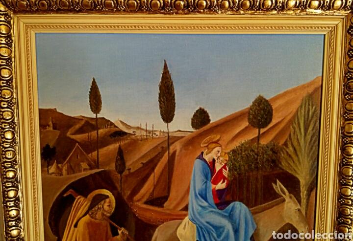 Arte: Oleo sobre lienzo. Sagrada Familia. Firmado Montoto. - Foto 3 - 139979814