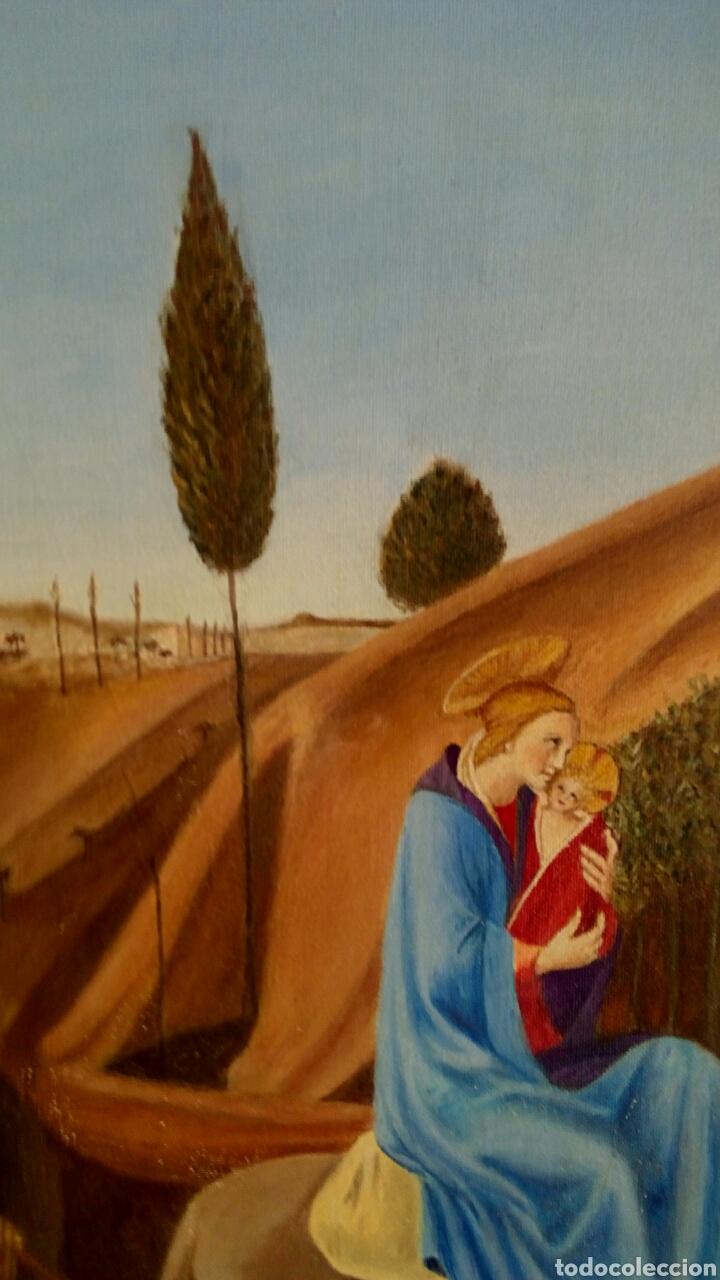 Arte: Oleo sobre lienzo. Sagrada Familia. Firmado Montoto. - Foto 5 - 139979814