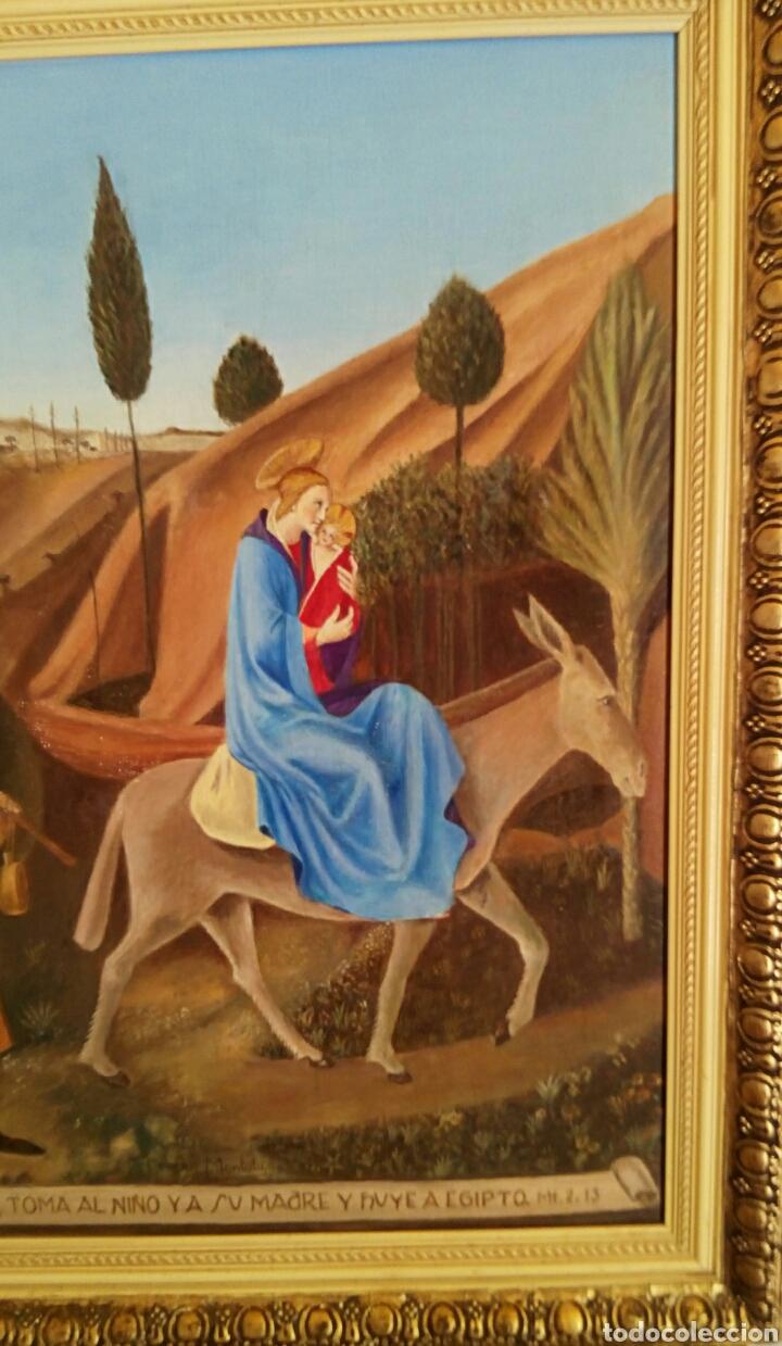 Arte: Oleo sobre lienzo. Sagrada Familia. Firmado Montoto. - Foto 8 - 139979814
