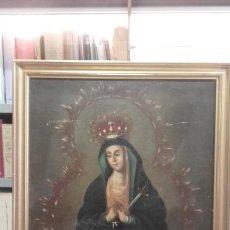 Arte: DOLOROSA /ÓLEO SOBRE LIENZO / S. XVIII. Lote 139991466