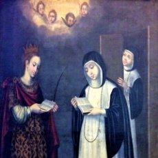 Arte: SANTA CATALINA DE ALEJANDRÍA. ÓLEO SOBRE LIENZO. ESCUELA DE ZURBARAN. ESPAÑA. SIGLO XVII. Lote 139996910