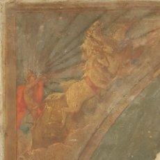 Arte: OLEO SOBRE CARTON -TEMATICA RELIGIOSA O MITOLOGICA - CUADRIGA TIRADA POR CABALLOS. Lote 140034398