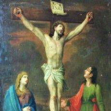 Arte: JESÚS, MARÍA, SAN JUAN Y MAGDALENA. ÓLEO SOBRE LIENZO. ESPAÑA. SIGLO XVII-XVIII. Lote 140126894