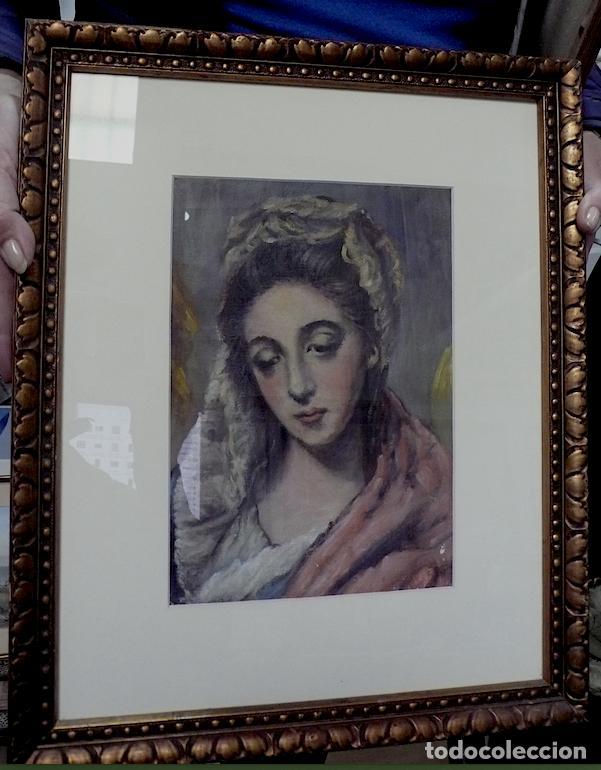 BELLISIMA COPIA DE LA VIRGEN DE EL GRECO (Arte - Arte Religioso - Pintura Religiosa - Otros)