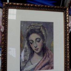 Arte: BELLISIMA COPIA DE LA VIRGEN DE EL GRECO . Lote 140286566