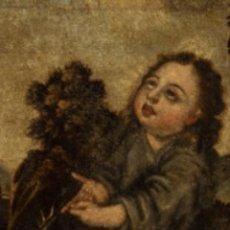 Arte: ÓLEO SOBRE LIENZO. NIÑO JESÚS DE LA ESPINA. S. XVII ESCUELA ESPAÑOLA. Lote 140392164