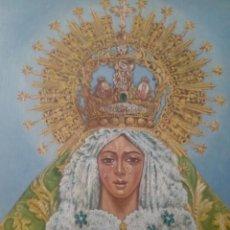 Arte: VIRGEN MACARENA-(SEVILLA)-60 X 50 CENTIMETROS-OLEO SOBRE LIENZO. Lote 140406334