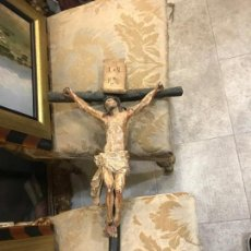 Arte: CRISTO CRUCIFICADO CON CRUZ ORIGINAL, TALLA S. XIX. Lote 140419374