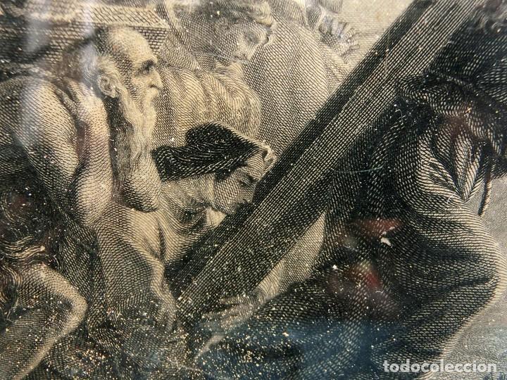 Arte: ANTIGUO Y PRECIOSO GRABADO RELIGIOSO - MARCO TIPO CAPILLA - JESÚS CAMINO DEL CIELO - FRANCÉS - Foto 12 - 140429282