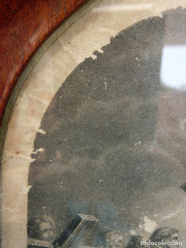 Arte: ANTIGUO Y PRECIOSO GRABADO RELIGIOSO - MARCO TIPO CAPILLA - JESÚS CAMINO DEL CIELO - FRANCÉS - Foto 13 - 140429282