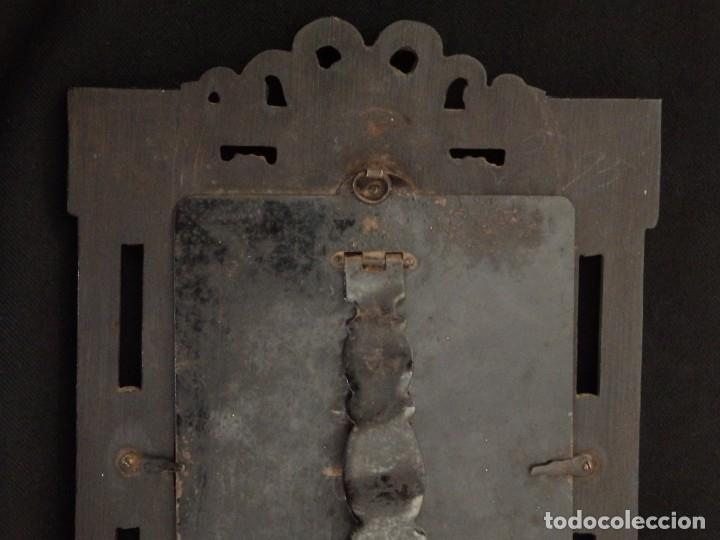 Arte: La Virgen con el NIño. Óleo sobre cobre del siglo XVIII. - Foto 15 - 140441962