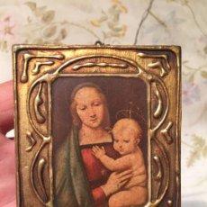 Arte: ANTIGUO CUADRO / CUADRITO RELIGIOSO DE LA VIRGEN Y EL NIÑO JESÚS AÑOS 40-50. Lote 175396514