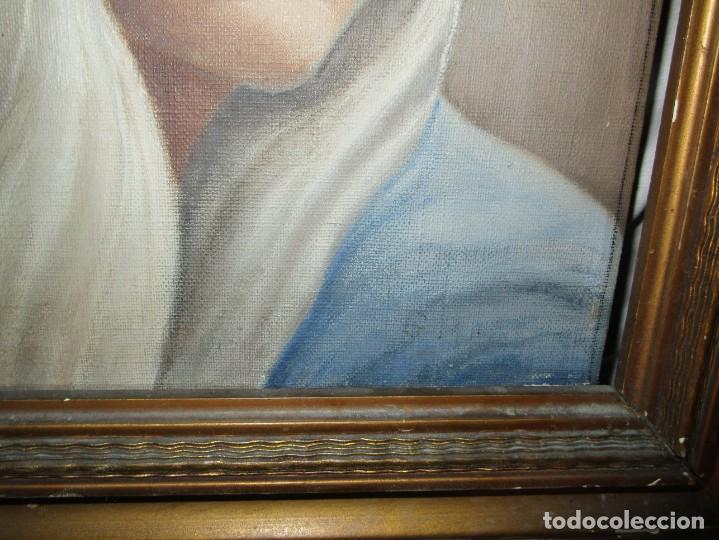 Arte: ANTIGUA PINTURA VIRGEN OLEO EN LIENZO CIRCULO DE GASTON CASTELLO ? ALICANTE - Foto 11 - 140466186