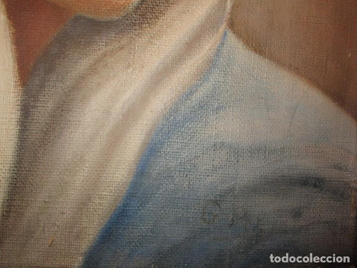 Arte: ANTIGUA PINTURA VIRGEN OLEO EN LIENZO CIRCULO DE GASTON CASTELLO ? ALICANTE - Foto 17 - 140466186