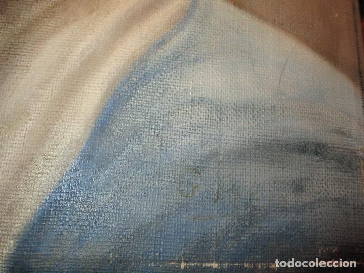 Arte: ANTIGUA PINTURA VIRGEN OLEO EN LIENZO CIRCULO DE GASTON CASTELLO ? ALICANTE - Foto 18 - 140466186