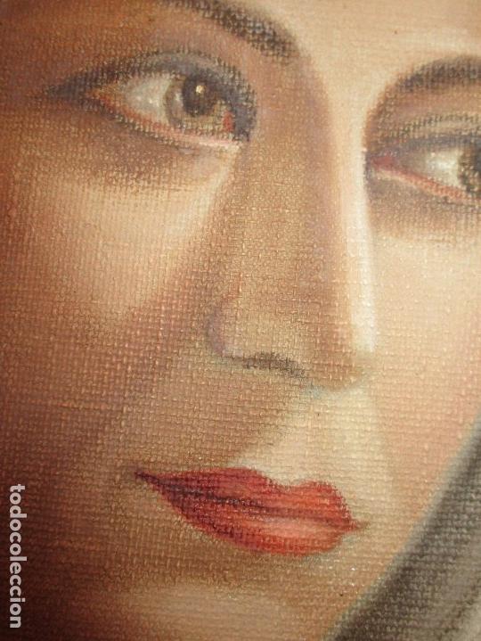 Arte: ANTIGUA PINTURA VIRGEN OLEO EN LIENZO CIRCULO DE GASTON CASTELLO ? ALICANTE - Foto 13 - 140466186