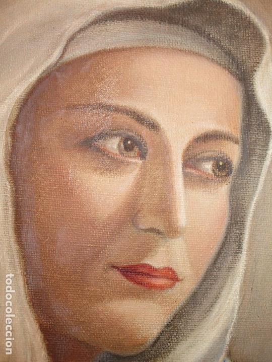 Arte: ANTIGUA PINTURA VIRGEN OLEO EN LIENZO CIRCULO DE GASTON CASTELLO ? ALICANTE - Foto 20 - 140466186