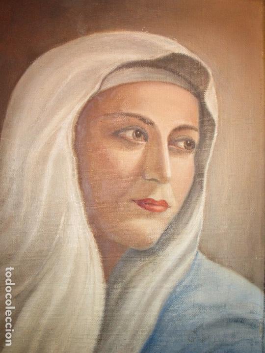 Arte: ANTIGUA PINTURA VIRGEN OLEO EN LIENZO CIRCULO DE GASTON CASTELLO ? ALICANTE - Foto 22 - 140466186