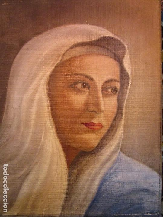 Arte: ANTIGUA PINTURA VIRGEN OLEO EN LIENZO CIRCULO DE GASTON CASTELLO ? ALICANTE - Foto 9 - 140466186