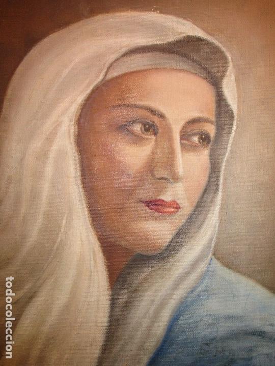 Arte: ANTIGUA PINTURA VIRGEN OLEO EN LIENZO CIRCULO DE GASTON CASTELLO ? ALICANTE - Foto 19 - 140466186