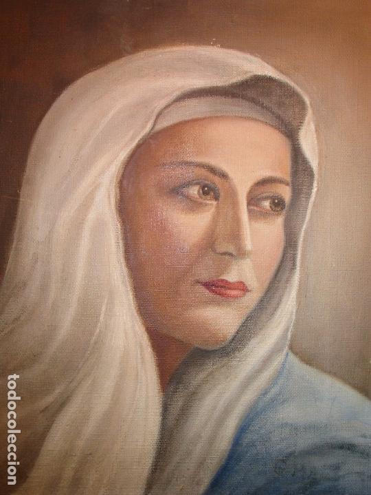 Arte: ANTIGUA PINTURA VIRGEN OLEO EN LIENZO CIRCULO DE GASTON CASTELLO ? ALICANTE - Foto 24 - 140466186