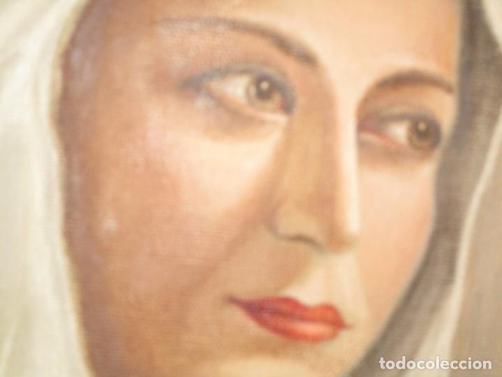Arte: ANTIGUA PINTURA VIRGEN OLEO EN LIENZO CIRCULO DE GASTON CASTELLO ? ALICANTE - Foto 25 - 140466186