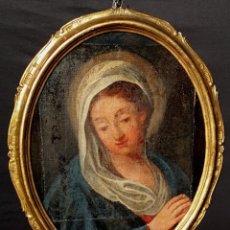 Arte: DIPINTO OLIO SU TELA RAFFIGURANTE LA VERGINE MARIA. Lote 140507158