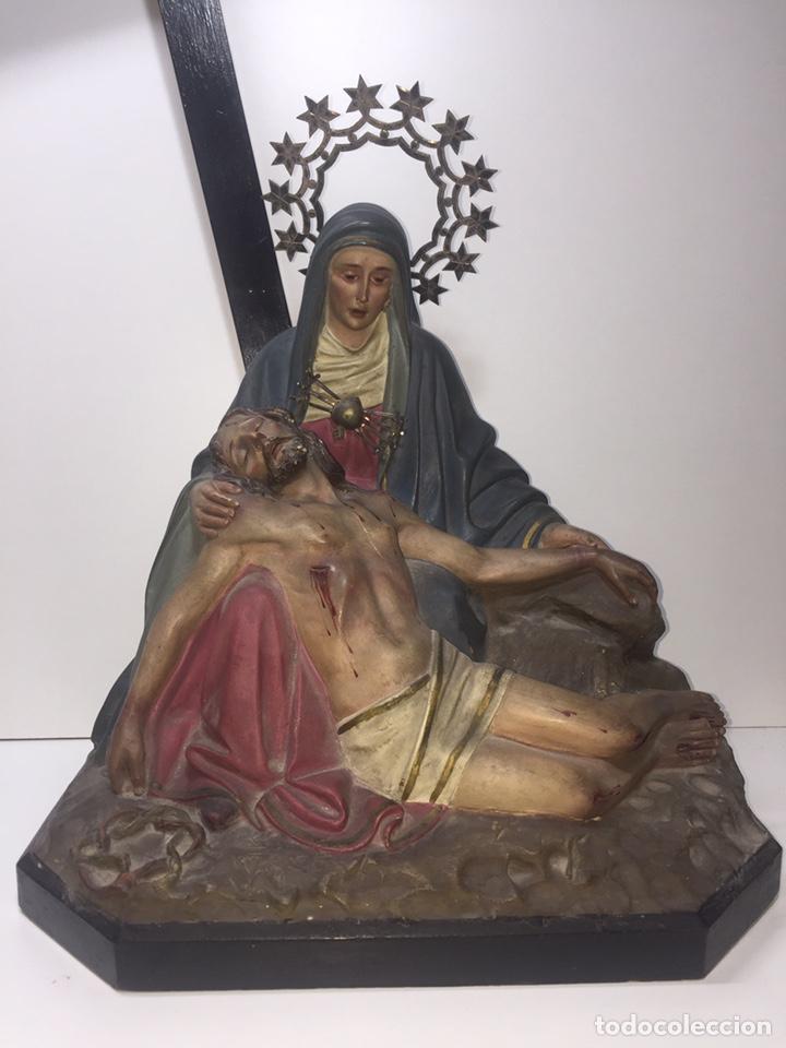 Arte: Escultura de Olot Sagrado corazón de jesus - Foto 3 - 140514452