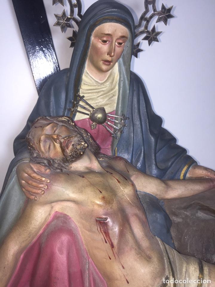 Arte: Escultura de Olot Sagrado corazón de jesus - Foto 4 - 140514452