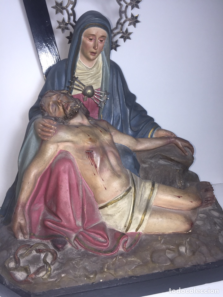 Arte: Escultura de Olot Sagrado corazón de jesus - Foto 5 - 140514452