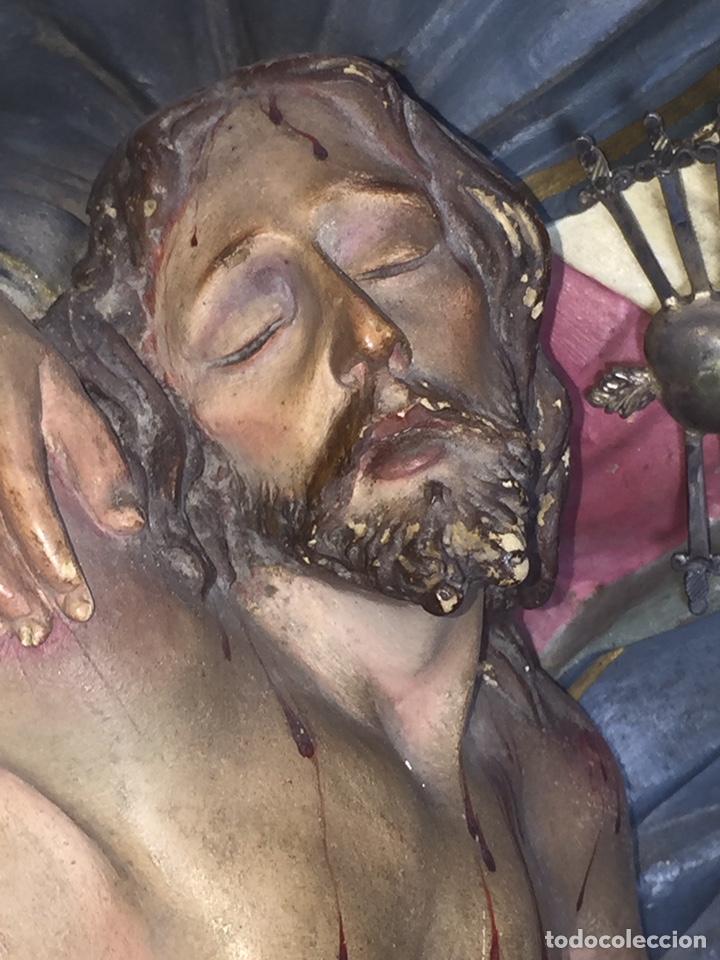 Arte: Escultura de Olot Sagrado corazón de jesus - Foto 7 - 140514452