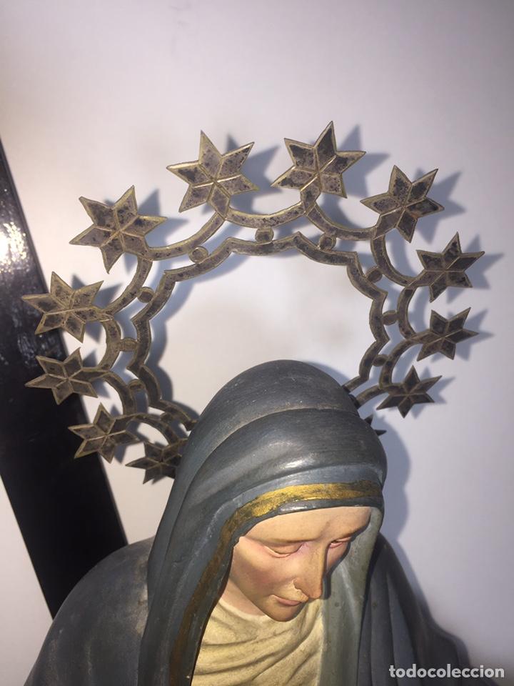Arte: Escultura de Olot Sagrado corazón de jesus - Foto 11 - 140514452