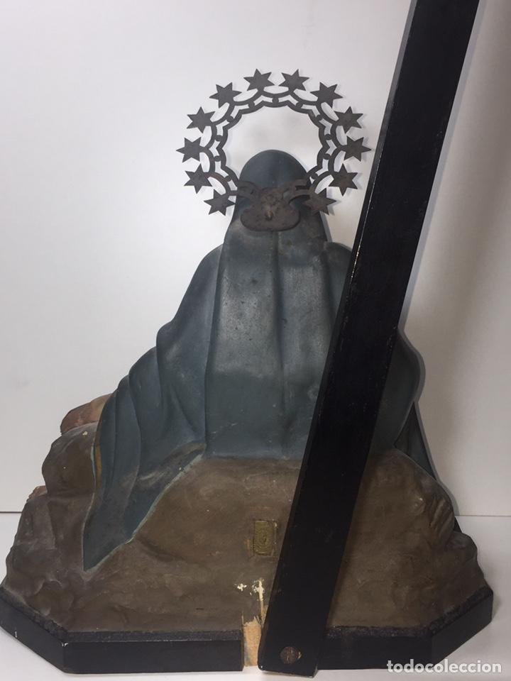 Arte: Escultura de Olot Sagrado corazón de jesus - Foto 15 - 140514452