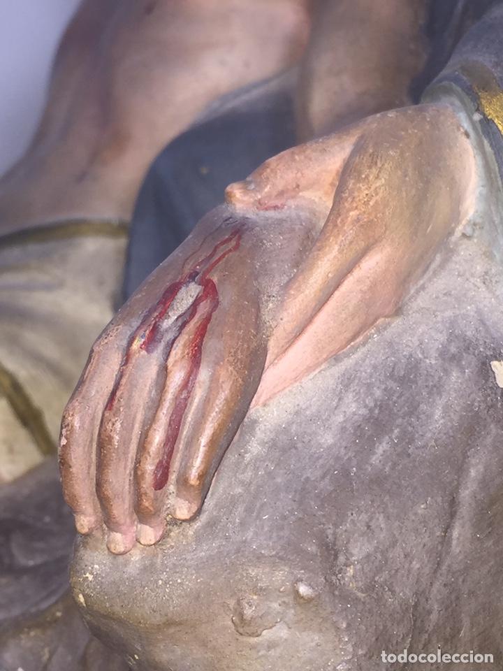 Arte: Escultura de Olot Sagrado corazón de jesus - Foto 18 - 140514452
