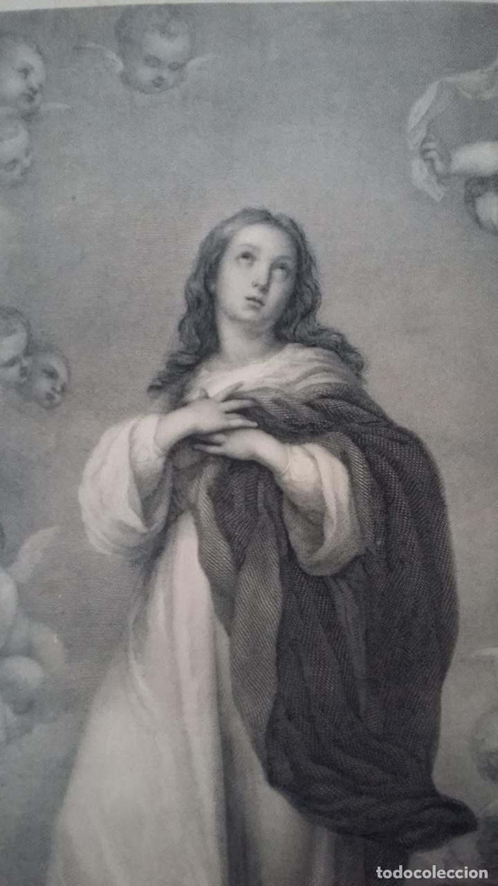 Arte: GRABADO ORIGINAL FINALES S. XIX - LA INMACULADA CONCEPCIÓN DE MURILLO - IMPRESO POR GOUPIL - Foto 2 - 140524718
