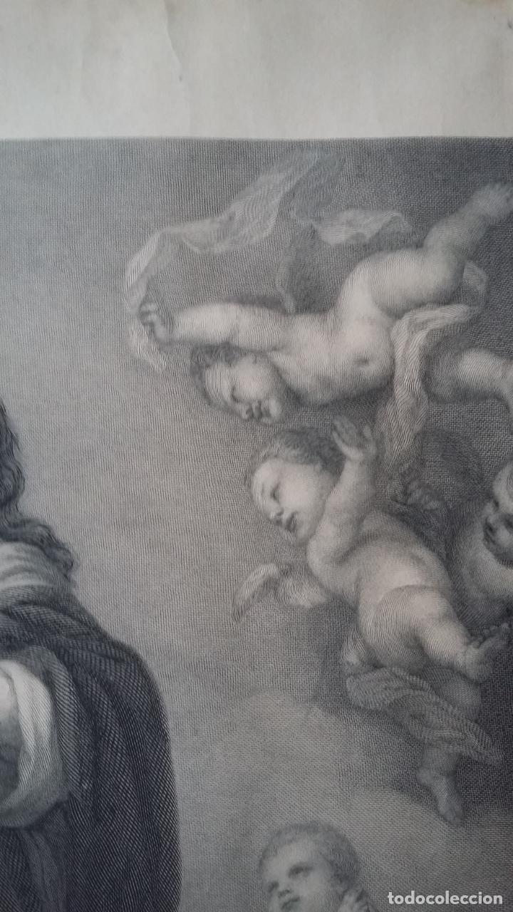 Arte: GRABADO ORIGINAL FINALES S. XIX - LA INMACULADA CONCEPCIÓN DE MURILLO - IMPRESO POR GOUPIL - Foto 3 - 140524718