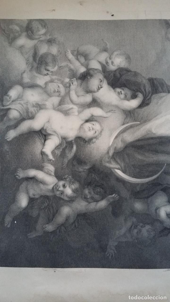 Arte: GRABADO ORIGINAL FINALES S. XIX - LA INMACULADA CONCEPCIÓN DE MURILLO - IMPRESO POR GOUPIL - Foto 5 - 140524718