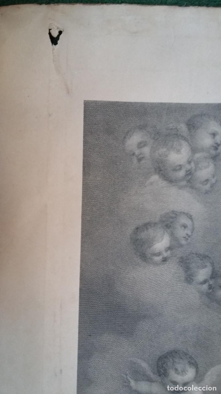 Arte: GRABADO ORIGINAL FINALES S. XIX - LA INMACULADA CONCEPCIÓN DE MURILLO - IMPRESO POR GOUPIL - Foto 9 - 140524718