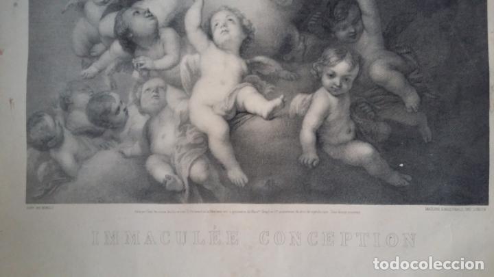 Arte: GRABADO ORIGINAL FINALES S. XIX - LA INMACULADA CONCEPCIÓN DE MURILLO - IMPRESO POR GOUPIL - Foto 10 - 140524718